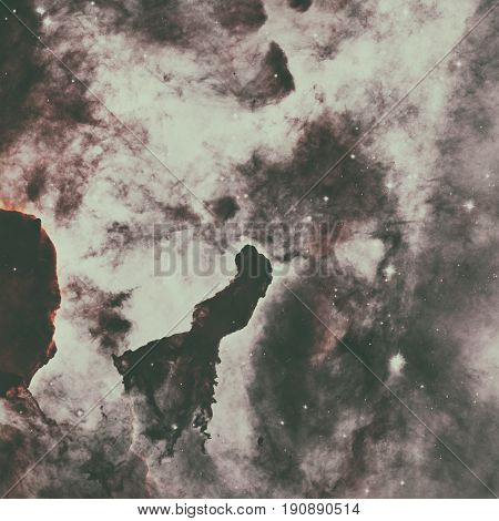 Dust Pillars In The Carina Nebula.