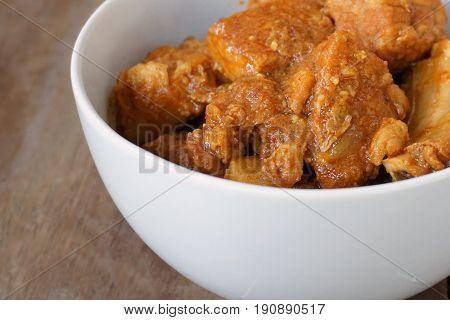 Thai pork curry or Kaeng Hung Ley Moo in Thai name