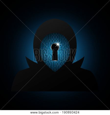 Technology Digital Future Abstract Cyber Security Hacker Keyhole Binary Background