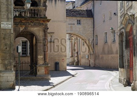 DOLE France May 25 2017 : College de l'Arc street in Dole