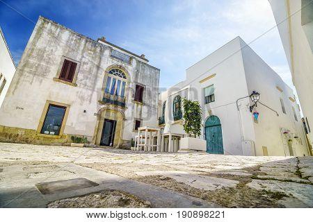 Beautiful Mediterranean Square In Otranto, Italy