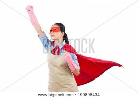 Superhero Housewife Ready To Fly Take Off