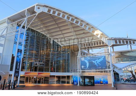 SYDNEY AUSTRALIA - MAY 30, 2017: National Maritime museum. National Maritime museum is a federally operated maritime museum in Darling Harbour Sydney.