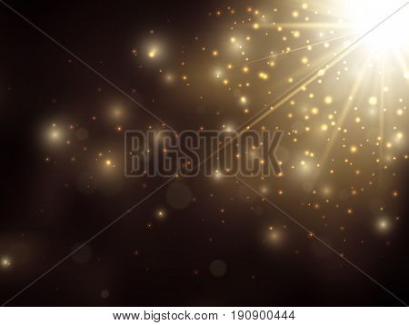 Gold glitter dust background, Vector texture. EPS10