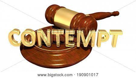 Contempt Law Concept 3D Illustration