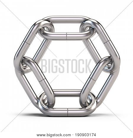 Lock, connection, team, partnership concept - Chain Link icon isolated on white. 3d rendering.