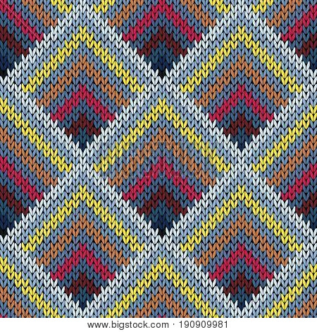 Seamless Knitting Pattern In Various Colors
