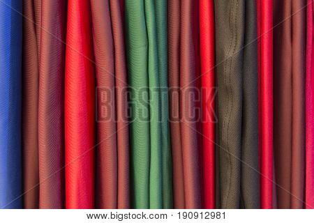 The fabric strip texture  background.A part of  closet