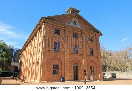 Historical architecture of Sydney Hyde park Barracks cityscape Sydney Australia