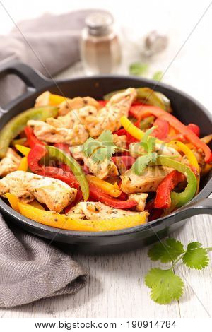 grilled chicken breast and bell pepper