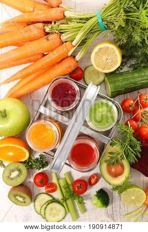 fruit and vegetable smoothie,juice