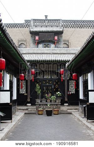 province antique architecture Pingyao building  china  traditional