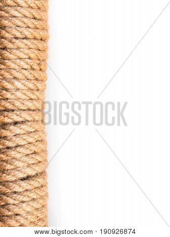 Twisted rope border for background isolated on white