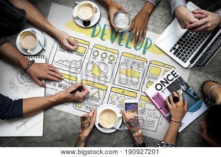 Develop Improve Business Plan Concept