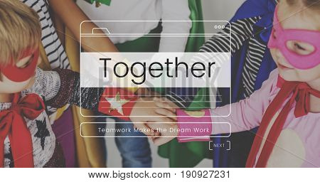 Together Teamwork Message Box Window Graphic