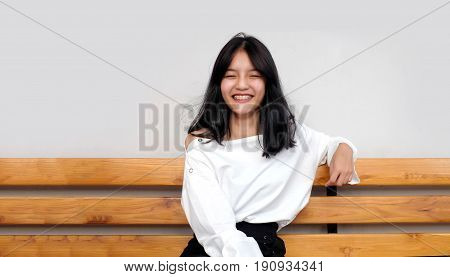Asian Girl Funny Face