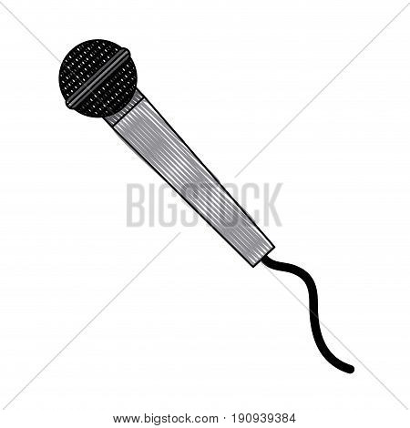 microphone sound recording equipment cable vector illustration
