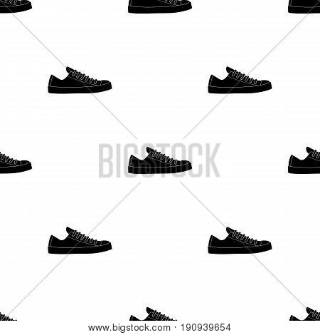 Rag camouflage sneakers for everyday wear.Different shoes single icon in black pattern vector symbol stock web illustration.