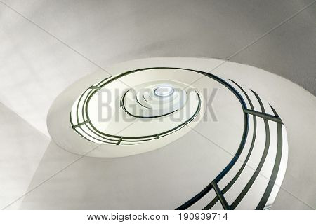 Modern Spiral Staircase Looking Up