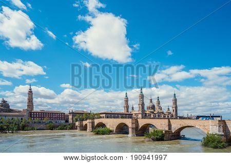 Spanish Cathedral in Zaragoza