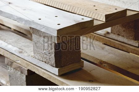 Wood pallets. Wooden pallets for making handmade furniture.