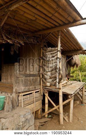 traditional village Bena village on Flores Island Indonesia Asia