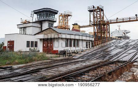 Railway Ramp For Ro-ro Ships Loading. Varna
