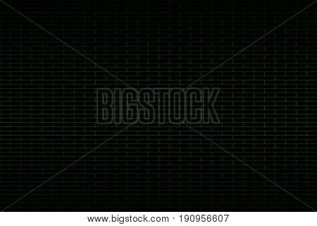 Abstract black background with green brick look vector illustration