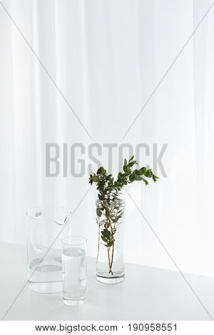 Picture of flowers on white table indoors