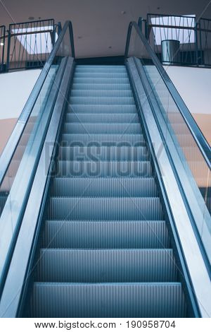 view on empty Escalator in the mall