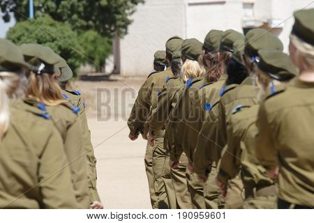 Women's battalion of the army of defense of Israel on oath