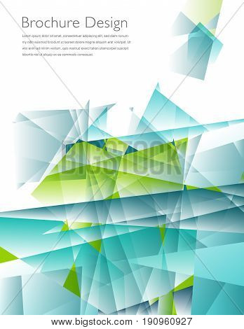 Modern business brochure leaflet, flyer, cover template with space for your type
