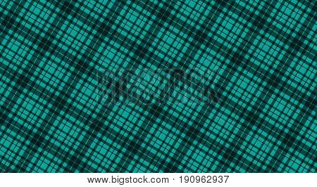 Fabric in green color seamless tartan pattern vector