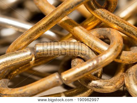 old rusty chain as a background . A photo