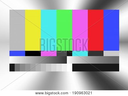static tv color bar test pattern, no signal