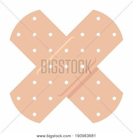 Adhesive bandage, vector illustration in flat style
