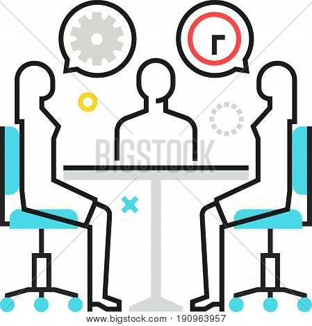 Color Box Icon, Meeting Concept Illustration, Icon