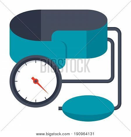 Blood pressure kit vector illustration in flat style