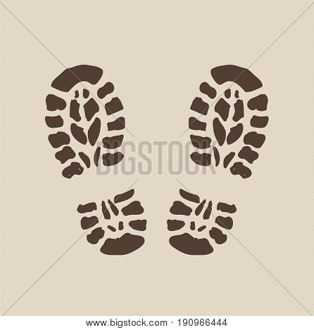 Footprint icon. Shoes icon. Shoes design. Vector stock.