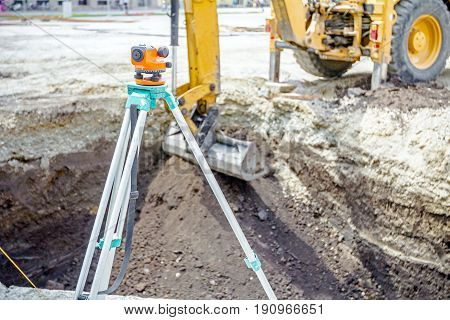 Surveyors ensure precise measurements before undertaking large construction projects.