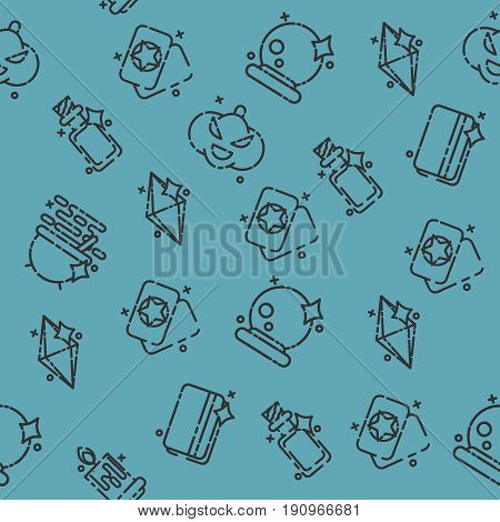 Black magic flat pattern. Trendy Simple vector symbol. Vector illustration, EPS 10