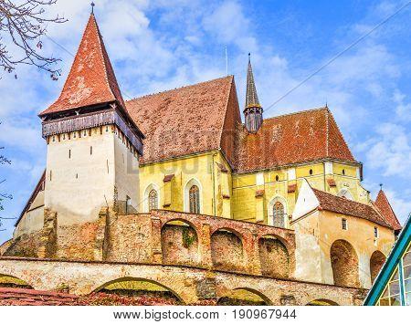 Biertan fortified church in Transylvania landmark, Romania.