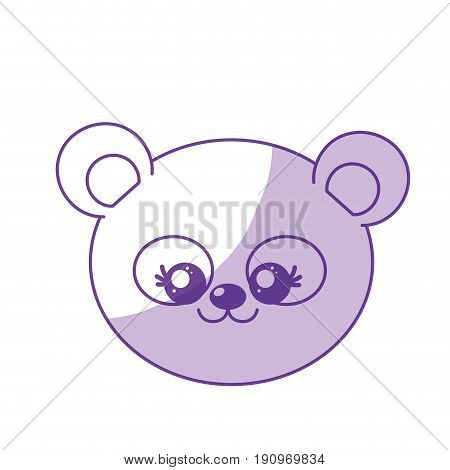 silhouette cute wild animal face with expression vector illustration