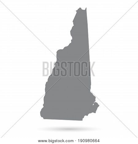 Map of the U.S. state of New Hampshire on a white background