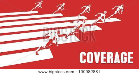 Coverage with Business People Running in a Path 3d Illustration Render