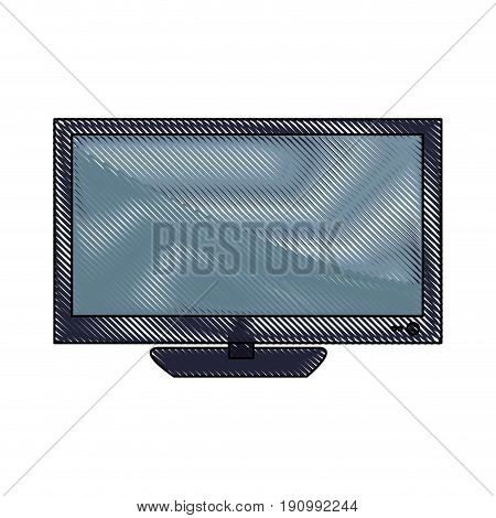 television screen plasma technology wireless icon vector illustration