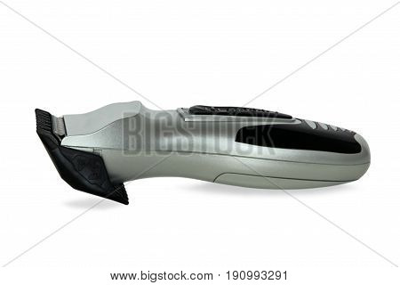Hair trimmer with shadow isolated on white background.