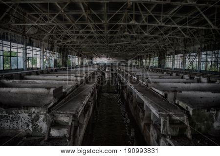 Abandoned wastewater purification treatment plants  in HDR