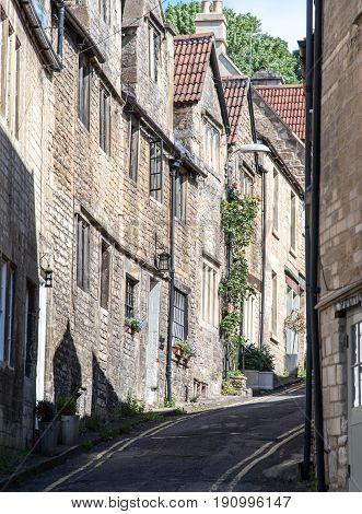 A street in Bradford on Avon Wiltshire UK