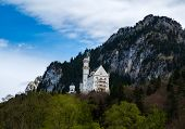 Neuschwanstein castle the famous viewpoint in Fussen Bavaria Germany poster